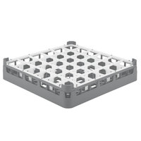 Vollrath 52689 Signature Full-Size Gray 36-Compartment 2 13/16 inch Short Glass Rack
