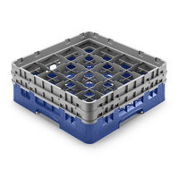 Cambro 16S958168 Camrack 10 1/8 inch High Blue 16 Compartment Glass Rack