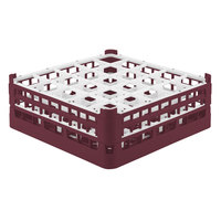 Vollrath 52711 Signature Full-Size Burgundy 25-Compartment 5 11/16 inch Tall Glass Rack