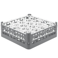 Vollrath 52704 Signature Lemon Drop Full-Size Gray 20-Compartment 6 1/4 inch Tall Plus Glass Rack