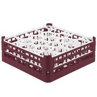 Vollrath 52703 Signature Lemon Drop Full-Size Burgundy 20-Compartment 5 11/16 inch Tall Glass Rack
