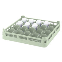Vollrath 52677 Signature Full-Size Light Green 20-Cup 4 1/8 inch Medium Rack