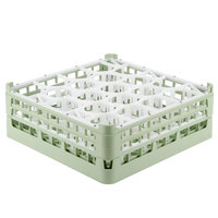 Vollrath 52703 Signature Lemon Drop Full-Size Light Green 20-Compartment 5 11/16 inch Tall Glass Rack