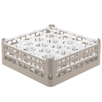 Vollrath 52703 Signature Lemon Drop Full-Size Beige 20-Compartment 5 11/16 inch Tall Glass Rack