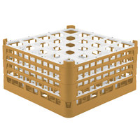 Vollrath 52713 Signature Full-Size Gold 25-Compartment 8 1/2 inch XX-Tall Glass Rack