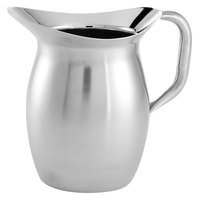 American Metalcraft DWPS64 Satin Finish 2 qt. Bell Pitcher