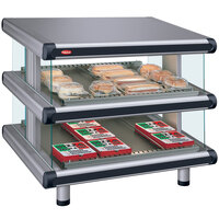 Hatco GR2SDS-30D Gray Granite Glo-Ray Designer 30 inch Slanted Double Shelf Merchandiser