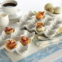American Metalcraft PEH9 9 Slot Porcelain Egg Tray