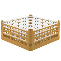 Vollrath 52712 Signature Full-Size Gold 25-Compartment 7 1/8 inch X-Tall Glass Rack