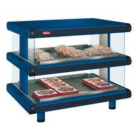 Hatco GR2SDH-48D Navy Blue Glo-Ray Designer 48 inch Horizontal Double Shelf Merchandiser