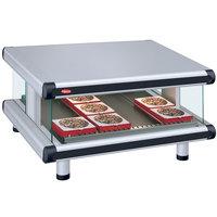 Hatco GR2SDS-24 White Granite Glo-Ray Designer 24 inch Slanted Single Shelf Merchandiser - 120V