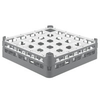 Vollrath 52710 Signature Full-Size Gray 25-Compartment 4 5/16 inch Medium Glass Rack