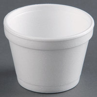 Dart Solo 12SJ20 12 oz. White Foam Food Bowl - 25/Pack