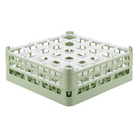 Vollrath 52711 Signature Full-Size Light Green 25-Compartment 5 11/16 inch Tall Glass Rack
