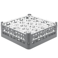 Vollrath 52703 Signature Lemon Drop Full-Size Gray 20-Compartment 5 11/16 inch Tall Glass Rack