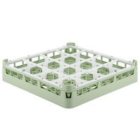 Vollrath 52694 Signature Full-Size Light Green 16-Compartment 2 13/16 inch Short Glass Rack