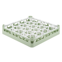 Vollrath 52692 Signature Lemon Drop Full-Size Light Green 20-Compartment 3 1/4 inch Short Plus Glass Rack