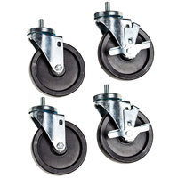Beverage-Air 00C31-049A Low Profile 2 3/4 inch Stem Casters - 4/Set