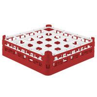 Vollrath 52710 Signature Full-Size Red 25-Compartment 4 5/16 inch Medium Glass Rack
