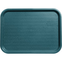 Carlisle CT121615 Cafe 12 inch x 16 inch Teal Standard Plastic Fast Food Tray