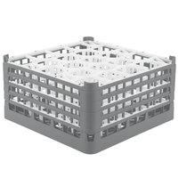 Vollrath 52708 Signature Lemon Drop Full-Size Gray 20-Compartment 8 1/2 inch XX-Tall Glass Rack