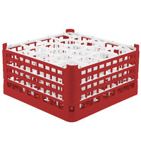 Vollrath 52709 Signature Lemon Drop Full-Size Red 20-Compartment 9 1/16 inch XX-Tall Plus Glass Rack