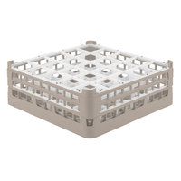 Vollrath 52711 Signature Full-Size Beige 25-Compartment 5 11/16 inch Tall Glass Rack