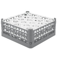 Vollrath 52707 Signature Lemon Drop Full-Size Gray 20-Compartment 7 11/16 inch X-Tall Plus Glass Rack