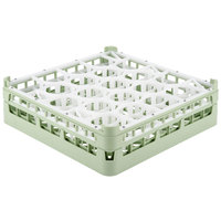 Vollrath 52693 Signature Lemon Drop Full-Size Light Green 20-Compartment 4 5/16 inch Medium Glass Rack
