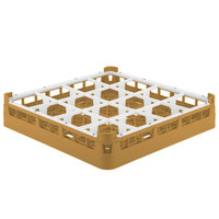 Vollrath 52694 Signature Full-Size Gold 16-Compartment 2 13/16 inch Short Glass Rack