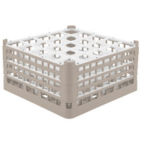 Vollrath 52713 Signature Full-Size Beige 25-Compartment 8 1/2 inch XX-Tall Glass Rack