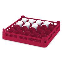 Vollrath 52676 Signature Full-Size Red 16-Cup 4 1/8 inch Medium Rack