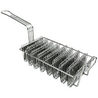 12 inch x 7 inch x 4 1/2 inch Taco Frying Basket with 8 Slots