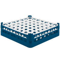Vollrath 52722 Signature Full-Size Royal Blue 49-Compartment 4 5/16 inch Medium Glass Rack