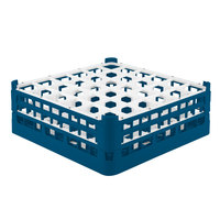 Vollrath 52715 Signature Full-Size Royal Blue 36-Compartment 5 11/16 inch Tall Glass Rack