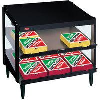 Hatco GRPWS-2418D Black Glo-Ray 24 inch Double Shelf Pizza Warmer - 960W
