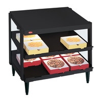 Hatco GRPWS-2418D Black Glo-Ray 24 inch Double Shelf Pizza Warmer - 960W