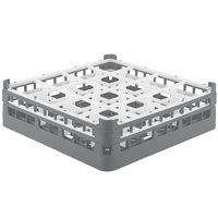 Vollrath 52718 Signature Full-Size Gray 16-Compartment 4 5/16 inch Medium Glass Rack