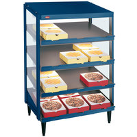 Hatco GRPWS-2418Q Navy Blue Glo-Ray 24 inch Quadruple Shelf Pizza Warmer - 120/240V, 1920W