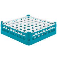 Vollrath 52722 Signature Full-Size Light Blue 49-Compartment 4 5/16 inch Medium Glass Rack