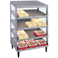 Hatco GRPWS-2418Q Granite Gray Glo-Ray 24 inch Quadruple Shelf Pizza Warmer - 120/208V, 1920W