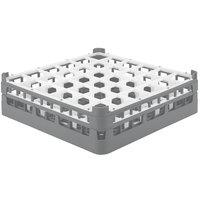 Vollrath 52714 Signature Full-Size Gray 36-Compartment 4 5/16 inch Medium Glass Rack