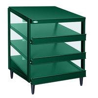 Hatco GRPWS-2418T Hunter Green Glo-Ray 24 inch Triple Shelf Pizza Warmer - 1440W