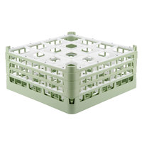 Vollrath 52720 Signature Full-Size Light Green 16-Compartment 7 1/8 inch X-Tall Glass Rack