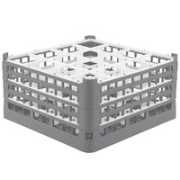 Vollrath 52721 Signature Full-Size Gray 16-Compartment 8 1/2 inch XX-Tall Glass Rack