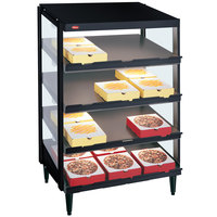 Hatco GRPWS-2418Q Black Glo-Ray 24 inch Quadruple Shelf Pizza Warmer - 120/240V, 1920W