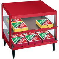 Hatco GRPWS-2418D Warm Red Glo-Ray 24 inch Double Shelf Pizza Warmer - 960W