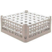 Vollrath 52716 Signature Full-Size Beige 36-Compartment 7 1/8 inch X-Tall Glass Rack