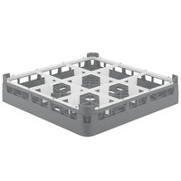 Vollrath 52726 Signature Full-Size Gray 9-Compartment 2 13/16 inch Short Glass Rack