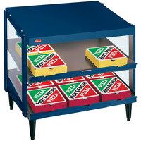 Hatco GRPWS-2418D Navy Blue Glo-Ray 24 inch Double Shelf Pizza Warmer - 960W